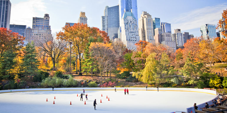 central park ice skater fall cruise