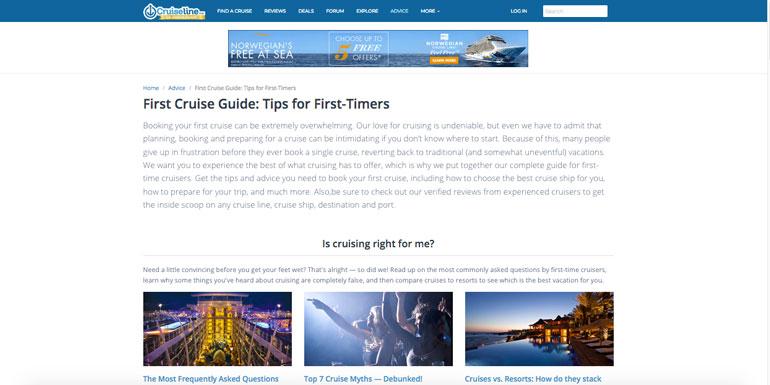 advice cruiseline.com expert tips
