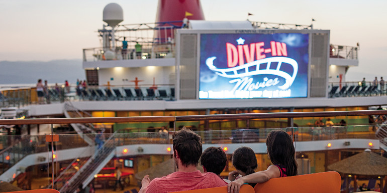 carnival cruise poolside movies entertainment free