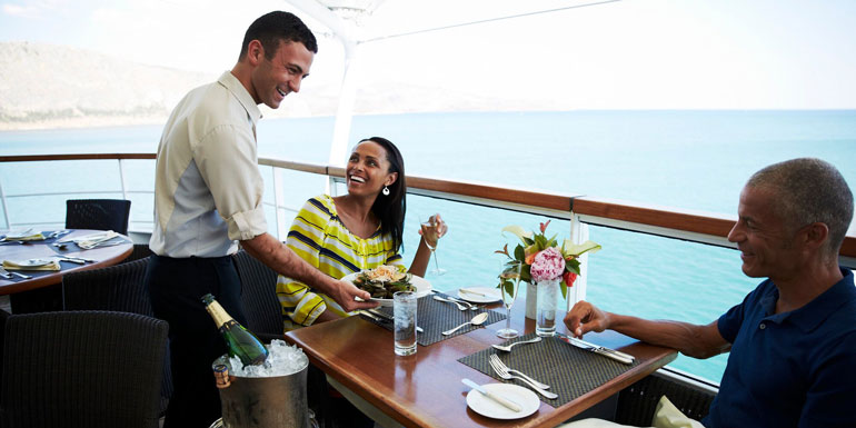 dining seabourn cruise