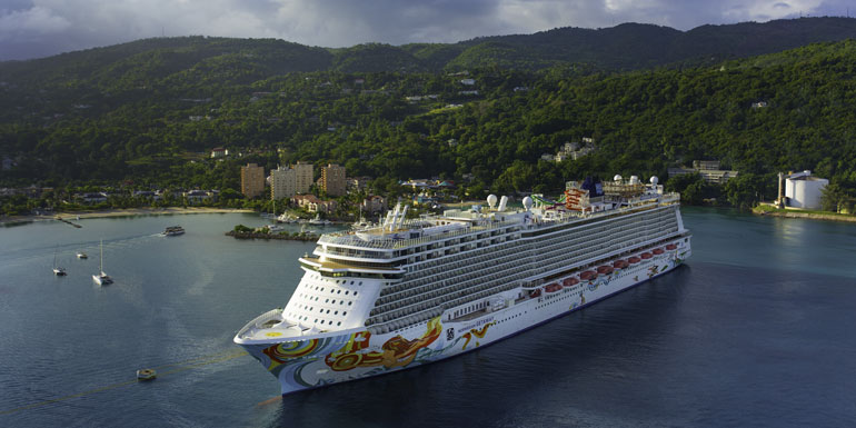 norwegian getaway ocho rios biggest ship