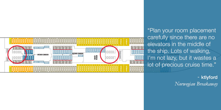 norwegian cruise tips deck map plan