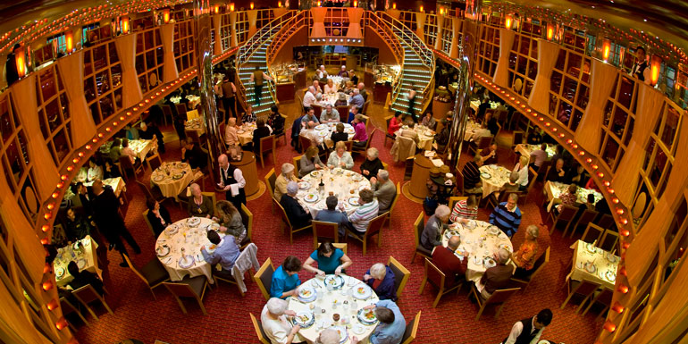 carnival dream main dining room cruise