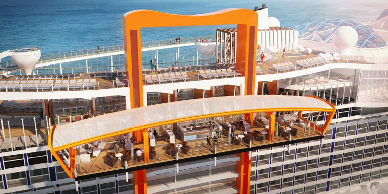 cruise outdoor dining magic carpet celebrity