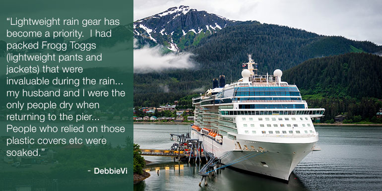 cruise packing tips rain gear
