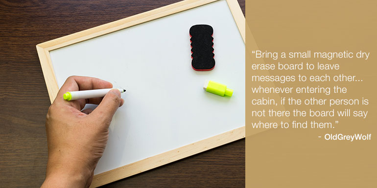cruise packing tips white board