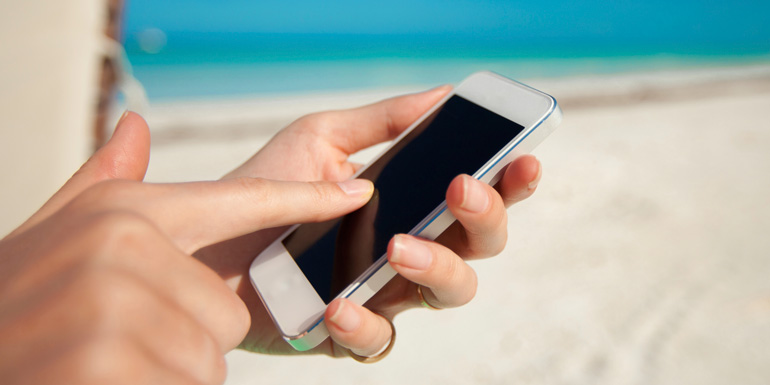 use cell phone cruise ship service