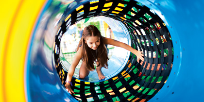 Norwegian Cruise Line splash academy tunnel