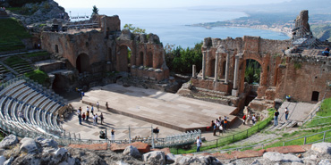 amphitheater in pompeii, messina.