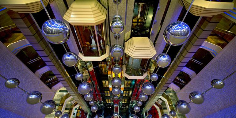 carnival atrium elevator stairs