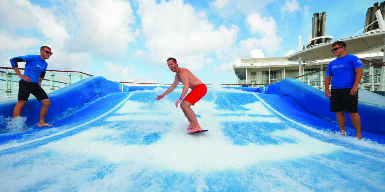 royal caribbean surfing flowrider solo activities