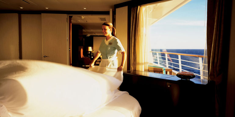 tips seabourn room steward cleaning