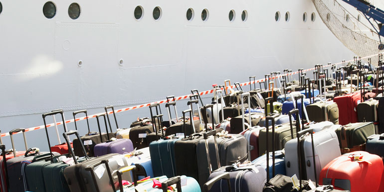 cruise ship luggage dock