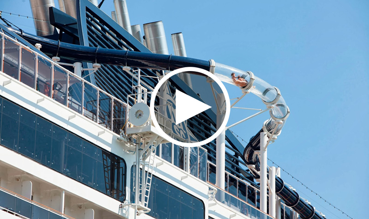 Craziest Cruise Ship Water Slides - Roller coaster on a cruise ship