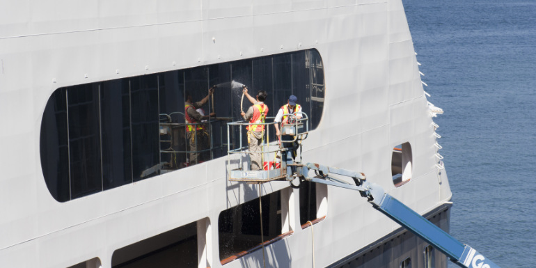 window washing ship weirdest cruise reviews