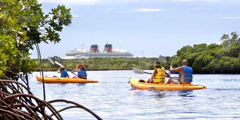 castaway cay kayaking disney cruise line