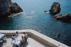nautika restaurant overlooking sea dubrovnik croatia