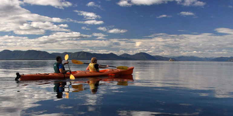 Alaska cruise tours kayak tatoosh islands