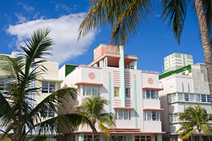 Historic buildings Ocean Drive miami florida