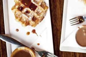 cafe medina waffles vancouver canada