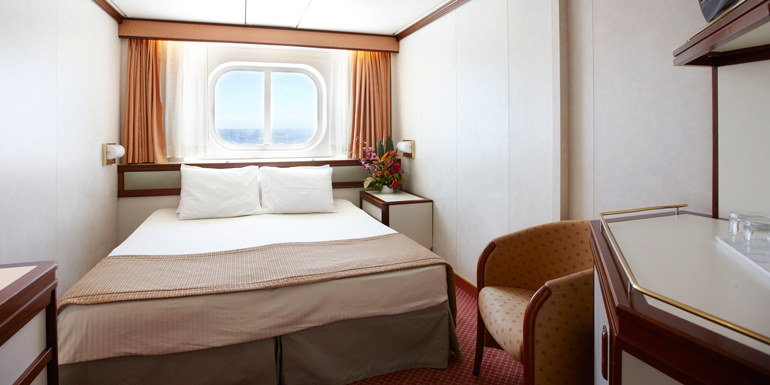 princess oceanview cruise ship cabin