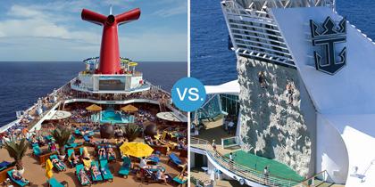 carnival vs royal caribbean cruise line