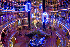 carnival ecstasy ship review atrium