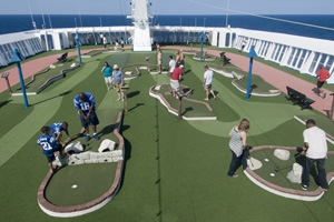 carnival ecstasy ship review mini golf