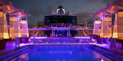 Celebrity Silhouette lido deck cruise ship