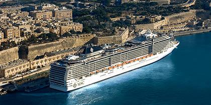 MSC Splendida in Valletta, Malta