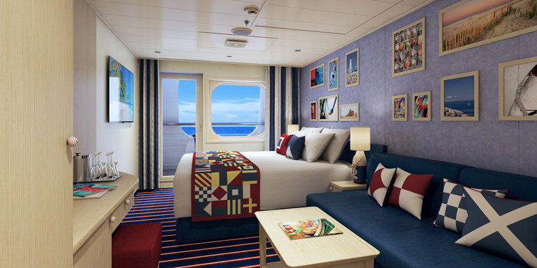 carnival vista cabins family harbor balcony