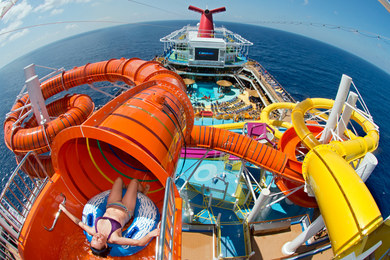 carnival vista waterworks lido cruise ship