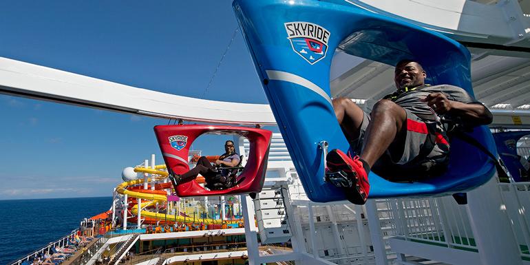 carnival vista skyride lido deck cruise