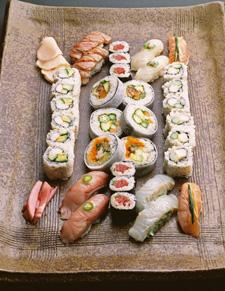 crystal serenity assorted sushi nobu silk