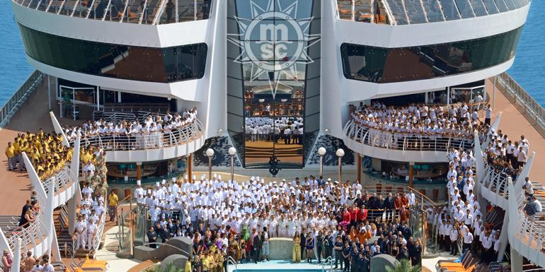 msc divina crew staff service cruise