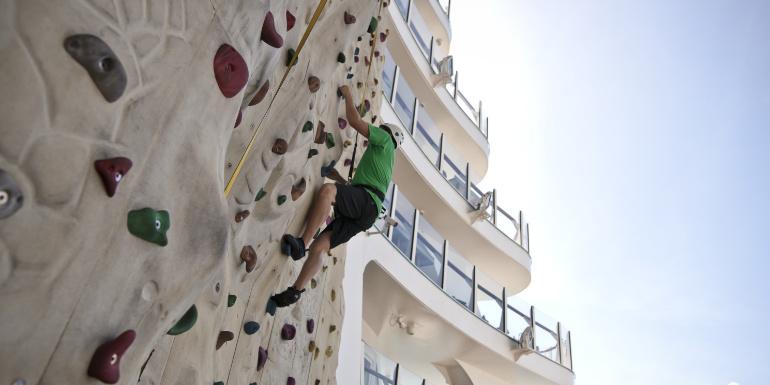 allure seas activities tips rock wall
