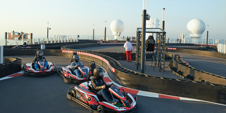 norwegian bliss go kart activities cruise