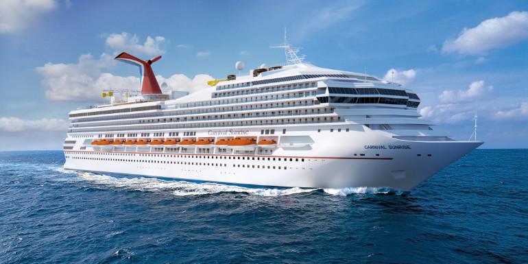 carnival sunrise triumph cruise ship name