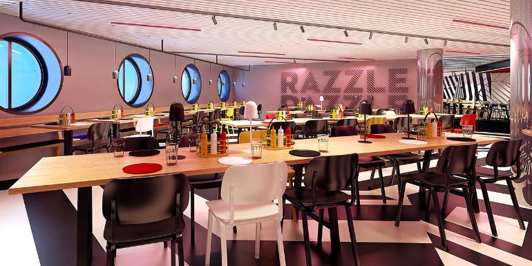 virgin voyages razzle dazzle scarlet lady dining