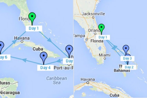 caribbean bahamas itineraries which is better