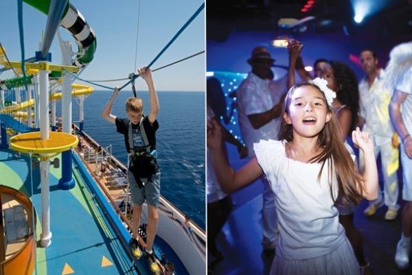 carnival vs. norwegian cruise line kids