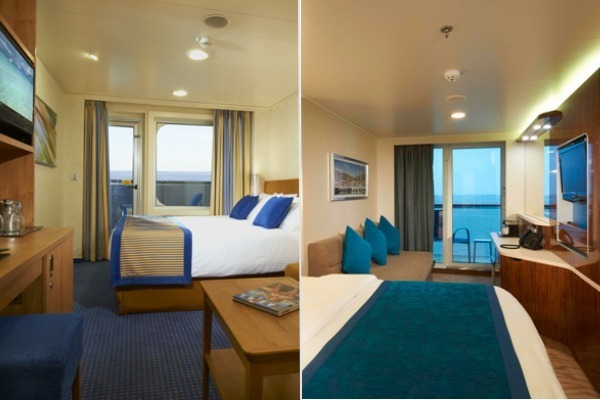 carnival vs. norwegian cruise line standard cabins
