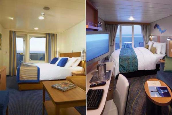 carnival vs royal caribbean standard cabins