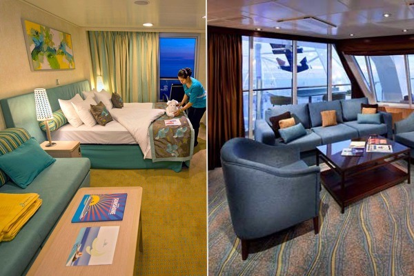 carnival vs royal caribbean specialty cabins