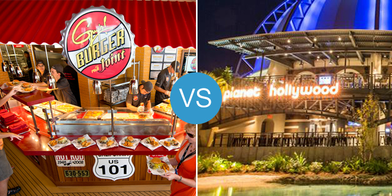 Guy's Burger Joint vs. Planet Hollywood: Smackdown!