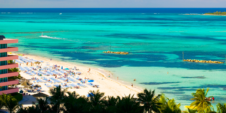 cable beach nassau bahamas best caribbean