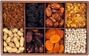 Box of dried fruits