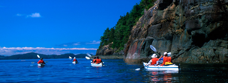 kayakers on inside passage